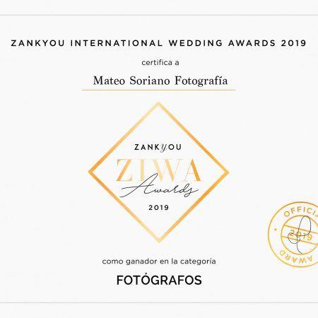 Premio ZIWA / mejores fotógrafos de bodas