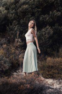 Sesión de moda con luz natural
